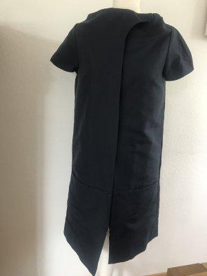COS Gabardina tipo vestido azul oscuro Algodón