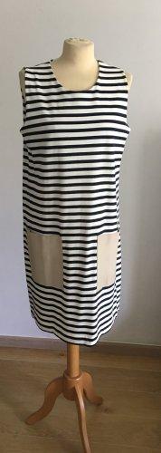 Cos Kleid mit streifen und Leder Taschen