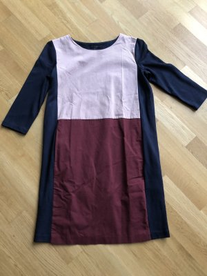 COS Kleid navy/rosa/bordeaux