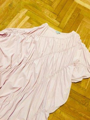 COS Sukienka z rękawem balonowym bladofiołkowy Bawełna