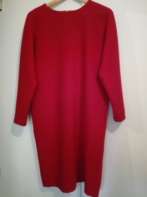 COS Longsleeve Dress red-brick red polyester