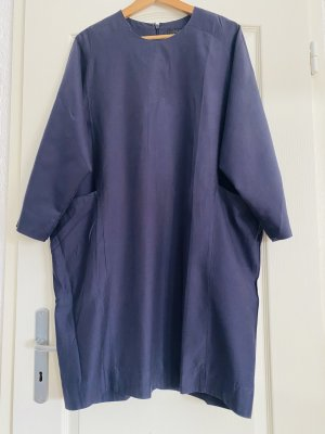 COS Robe d'été bleu foncé-bleu