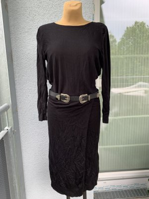 COS Kleid Schwarz Midi gr M 100% Wolle