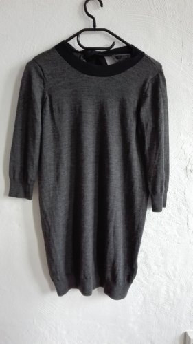 COS Woolen Dress grey-dark grey merino wool