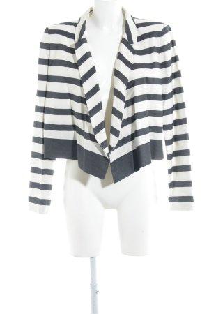 COS Kurz-Blazer dunkelblau-wollweiß Streifenmuster Business-Look