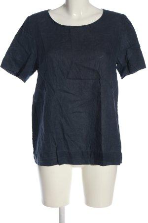 COS Kurzarm-Bluse blau Casual-Look