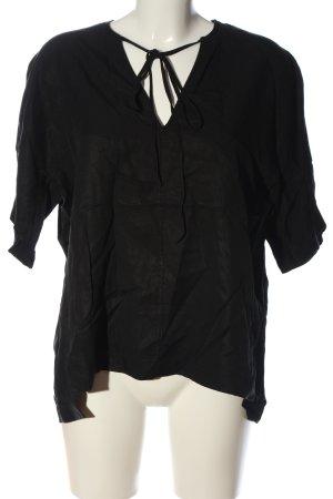 COS Kurzarm-Bluse schwarz Casual-Look