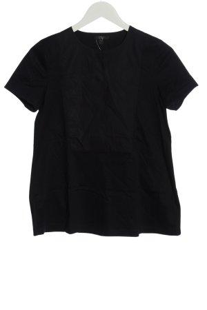 COS Kurzarm-Bluse schwarz klassischer Stil