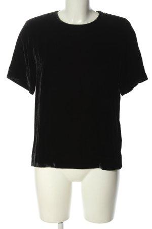 COS Blouse met korte mouwen zwart casual uitstraling