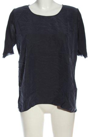 COS Camicetta a maniche corte blu-marrone stile casual