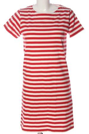 COS Kurzarmkleid rot-weiß Streifenmuster Casual-Look