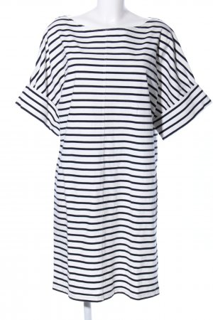 COS Shortsleeve Dress white-black striped pattern casual look