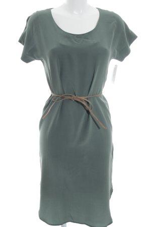 COS Vestido de manga corta caqui estilo sencillo