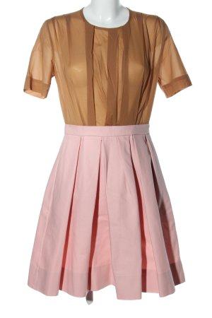 COS Robe à manches courtes rose-brun élégant