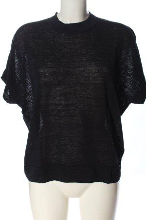 COS Jersey de manga corta negro look casual