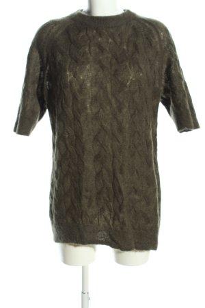 COS Short Sleeve Sweater khaki casual look