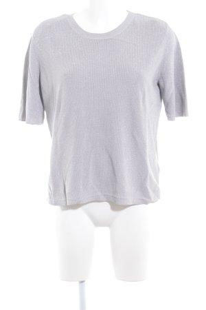 COS Sweter z krótkim rękawem srebrny W stylu casual