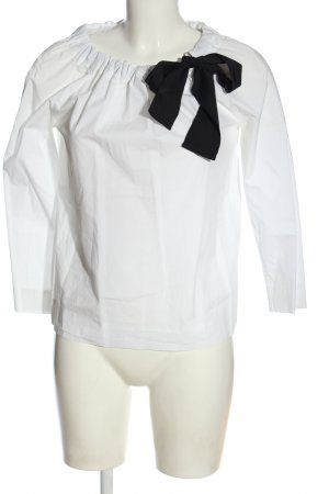 COS Langarm-Bluse weiß-schwarz Elegant