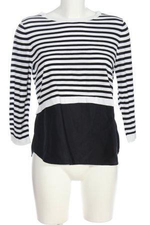 COS Langarm-Bluse schwarz-weiß Allover-Druck Casual-Look