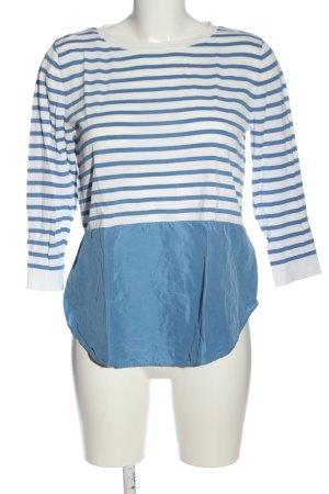 COS Blouse met lange mouwen wit-blauw gestreept patroon casual uitstraling