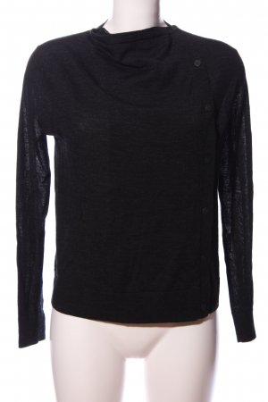 COS Long Sleeve Blouse black flecked casual look