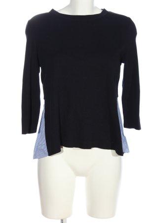 COS Langarm-Bluse schwarz-blau Streifenmuster Casual-Look