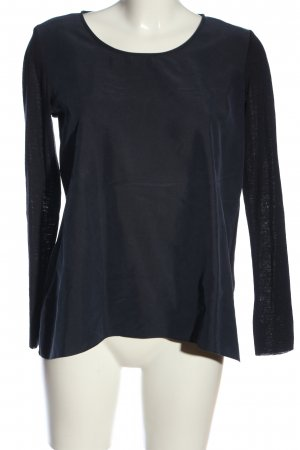 COS Blusa de manga larga azul look casual