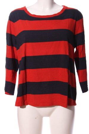 COS Blouse à manches longues rouge-noir motif rayé style décontracté