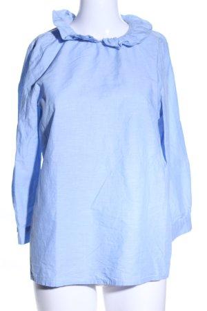 COS Langarm-Bluse blau meliert Casual-Look