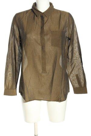 COS Langarm-Bluse braun Casual-Look