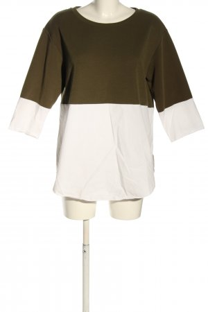 COS Long Sleeve Blouse khaki-white casual look