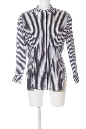 COS Langarmhemd schwarz-weiß Streifenmuster Business-Look