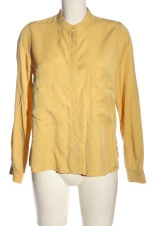 COS Shirt met lange mouwen sleutelbloem zakelijke stijl