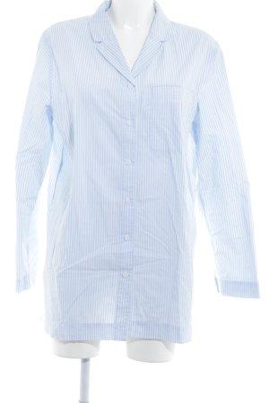 COS Langarmhemd blassblau-weiß Streifenmuster Business-Look