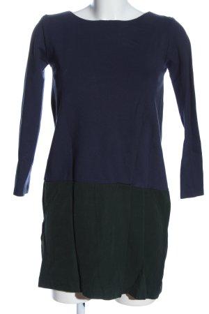 COS Langarmkleid blau-khaki Casual-Look