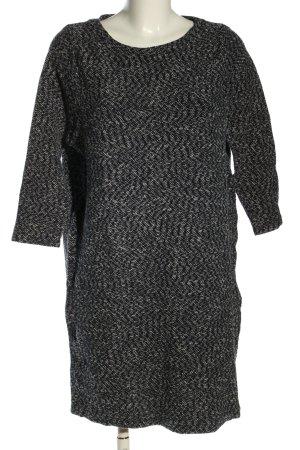 COS Longsleeve Dress black-light grey weave pattern casual look