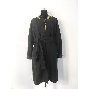 COS Lange Blazer Jacke Schwarz L 40/42/44 Wolle Baumwolle Strickjacke Mantel