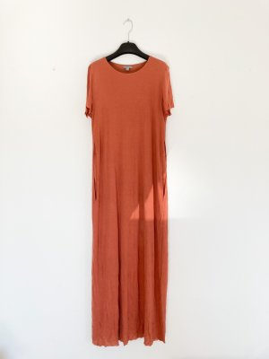COS langes Jersey Kleid Rost Rot M L 38 40 42 Maxikleid Shirtkleid Sommer Kleid T-Shirt Shirtdress