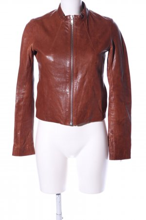 COS Leather Jacket brown casual look