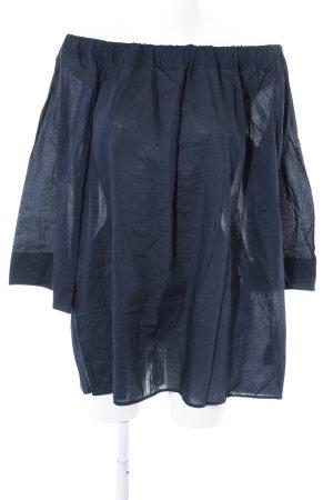 COS Blouse en lin bleu style décontracté