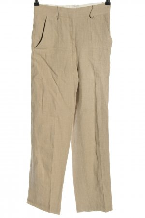 COS Linen Pants natural white weave pattern casual look