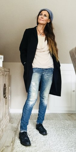 COS Long-Blazer schwarz Elegant Baumwolle