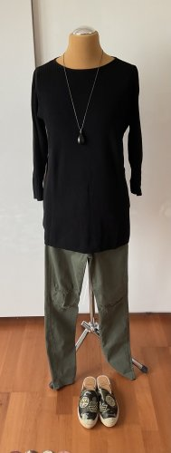 COS Long Sweater black viscose
