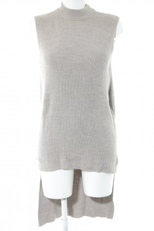 COS Długi sweter bez rękawów jasnoszary Wełna