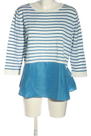 COS Longshirt blau-weiß Streifenmuster Casual-Look