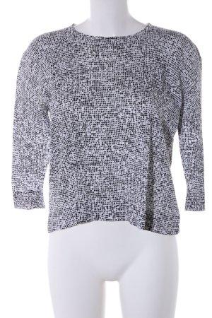 COS Longsleeve schwarz-weiß abstraktes Muster Casual-Look
