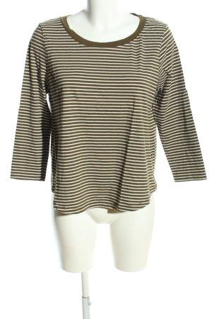 COS Top à manches longues bronze-blanc imprimé allover style décontracté