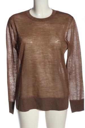 COS Longsleeve brown flecked casual look