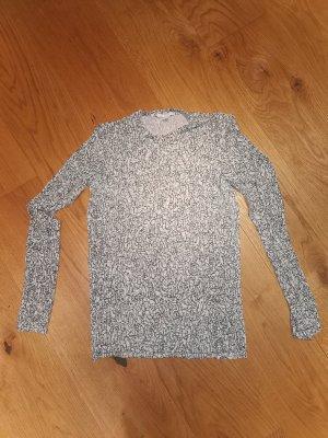 COS Koszulka z długim rękawem czarny-w kolorze białej wełny