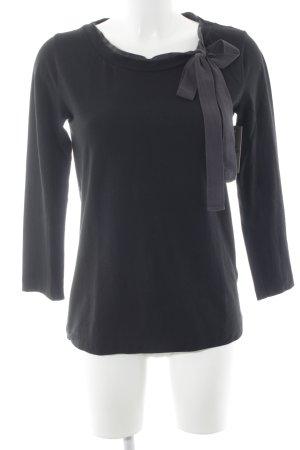 COS Longsleeve schwarz-grau Casual-Look